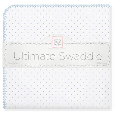 Swaddle Designs Ultimate Receiving Blanket  Polka Dots