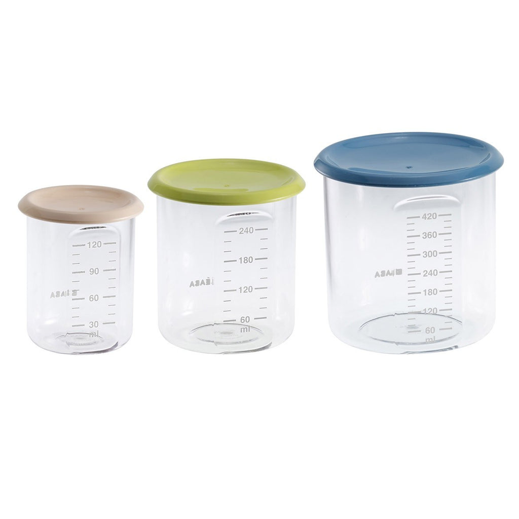 Beaba Set of 3 conservation jars (1 baby / 1 maxi / 1 maxi +)