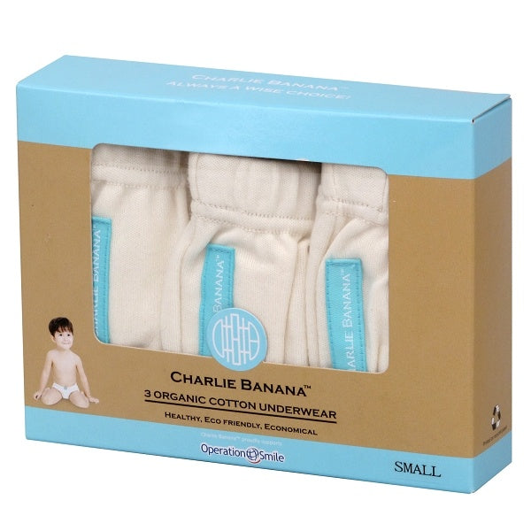 Charlie Banana 3 Underwear Organic Cotton in Box