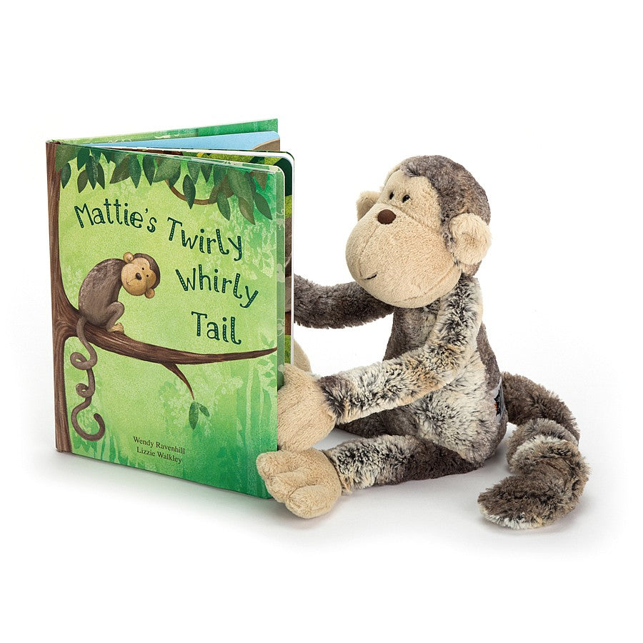 Jellycat Mattie's Twirly Whirly Tail Book