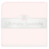 Swaddle Designs Ultimate Receiving Blanket Very Light with Pastel Polka Dots & Pastel Trim