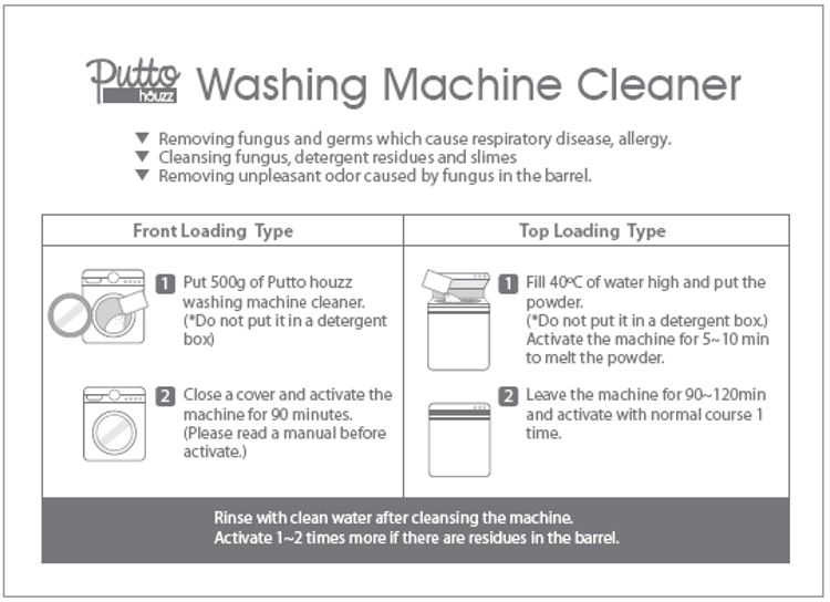 Putto Houzz Washing Machine Cleaner