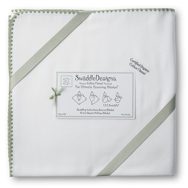 Swaddle Designs Organic Ultimate Swaddle Ivory with Color Trim