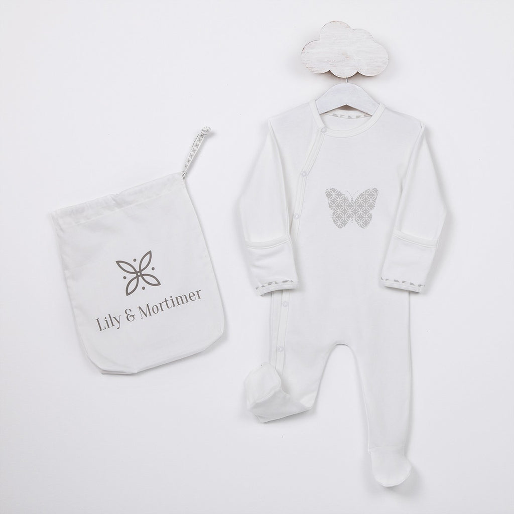 Lily & Mortimer Lily Story Time Romper Grey