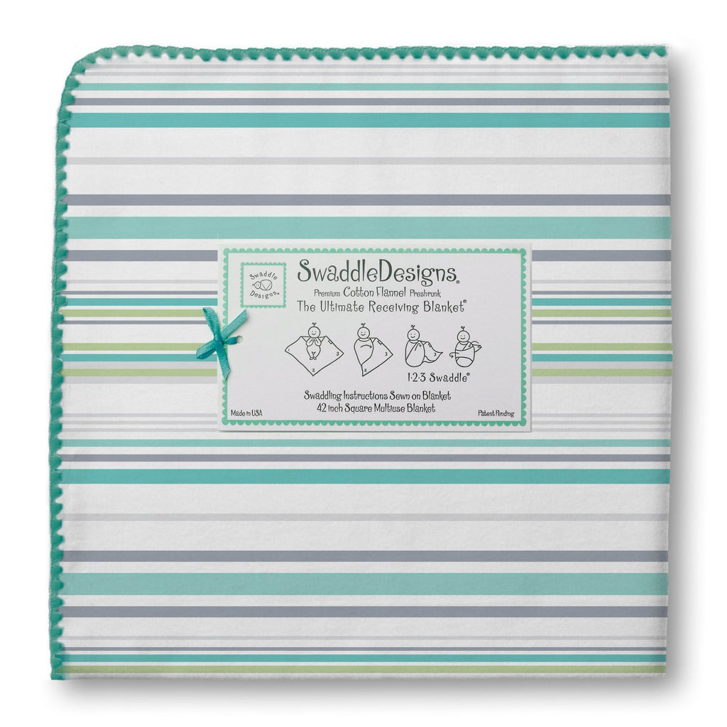 Swaddle Designs Ultimate Receiving Blanket Stripes