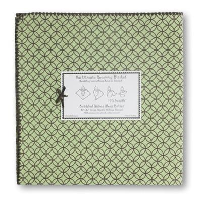 Swaddle Designs Ultimate Swaddle Pastel with Brown Circles on Circles