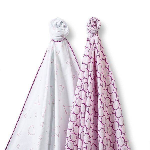 Swaddle Designs Swaddle Duo Big Chickies & Mod Circles