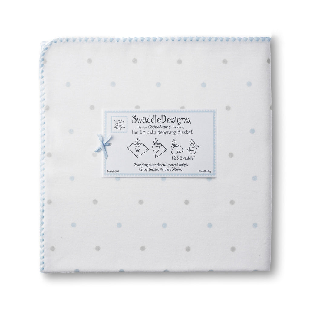 Swaddle Designs Ultimate Receiving Blanket Little Dots & Sterling Dots