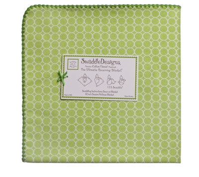 Swaddle Designs Ultimate Receiving Blanket - White Mini Dot