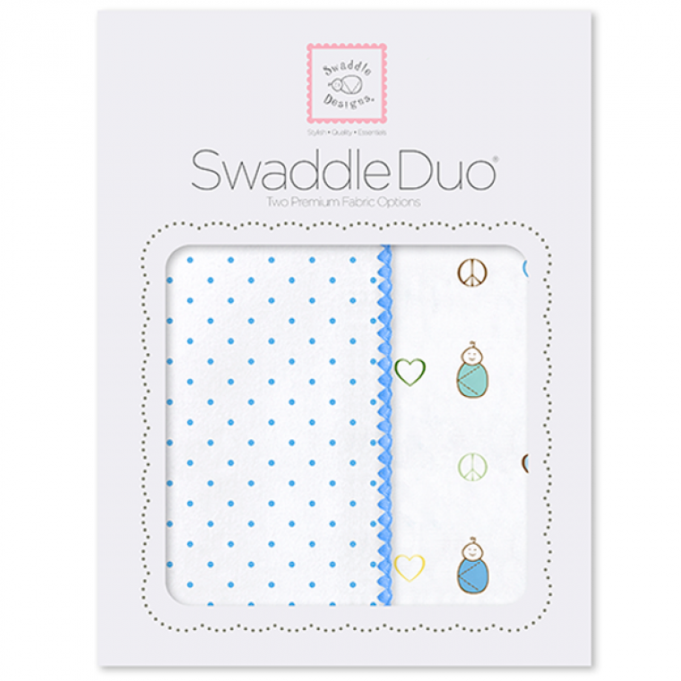 Swaddle Designs Swaddle Duo Classic Peace Love