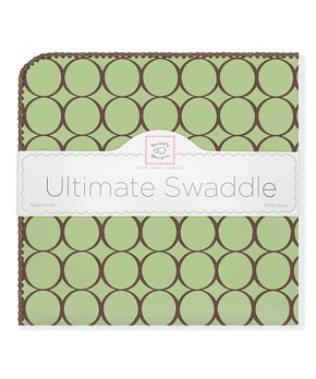 Swaddle Designs Ultimate Receiving Blanket Pastel With Choc Mod Circles
