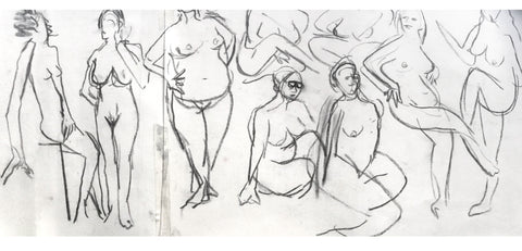 [Life drawing by Lucie Russell - @Drawing.People.Together.]