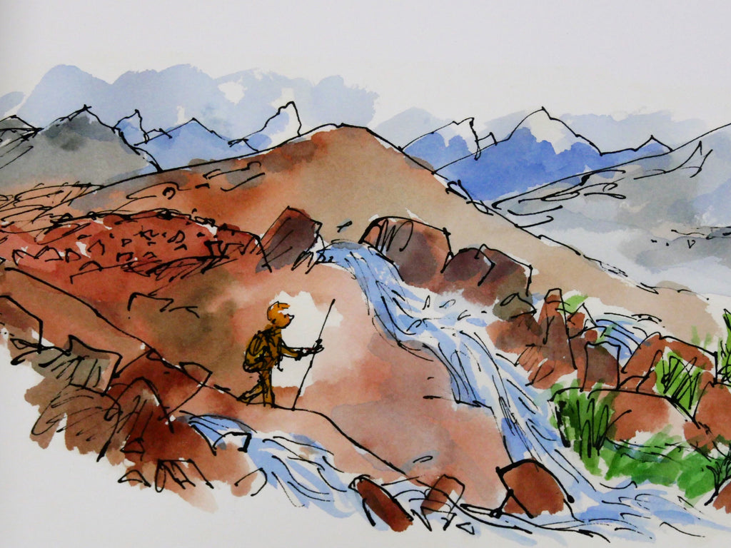 Big Draw Exclusive Limited Edition Print Unsigned: 'Gluck Walking in a Green Valley' by Sir Quentin Blake (from 'The King of The Golden River' by John Ruskin)