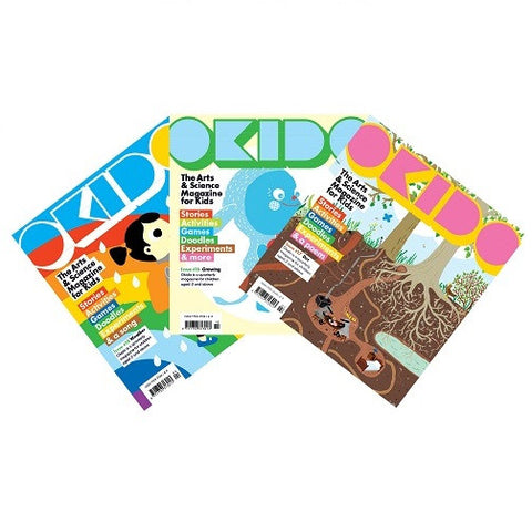 OKIDO magazine bundle - Issues: 16 - Weather/17- Dirt /18- Growing