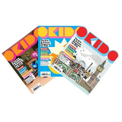 OKIDO magazine bundle - Issues: 19 habitat / 20 music / 21 London