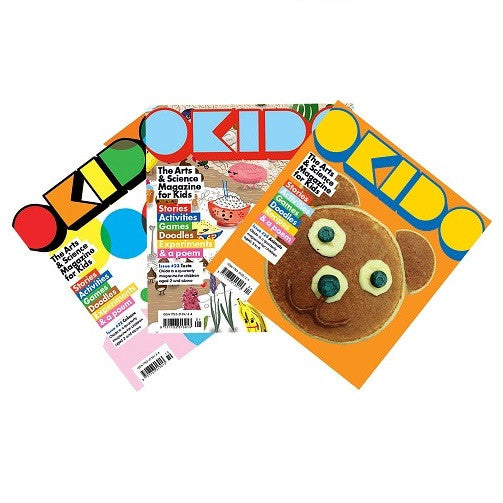 OKIDO magazine bundle - Issues: 22 - colours / 23 - taste / 24 - animals