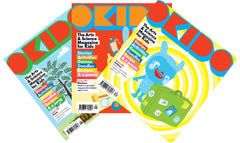 OKIDO magazine bundle - Issues: 28 - Plants / 29 - Machines / 30 - Holidays