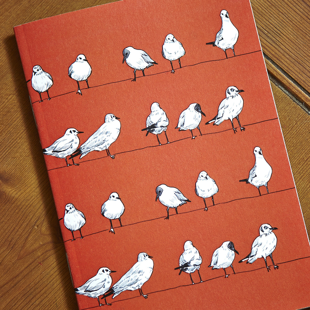 Bloody Seagulls A6 Notebook - Ben Rothery Illustration