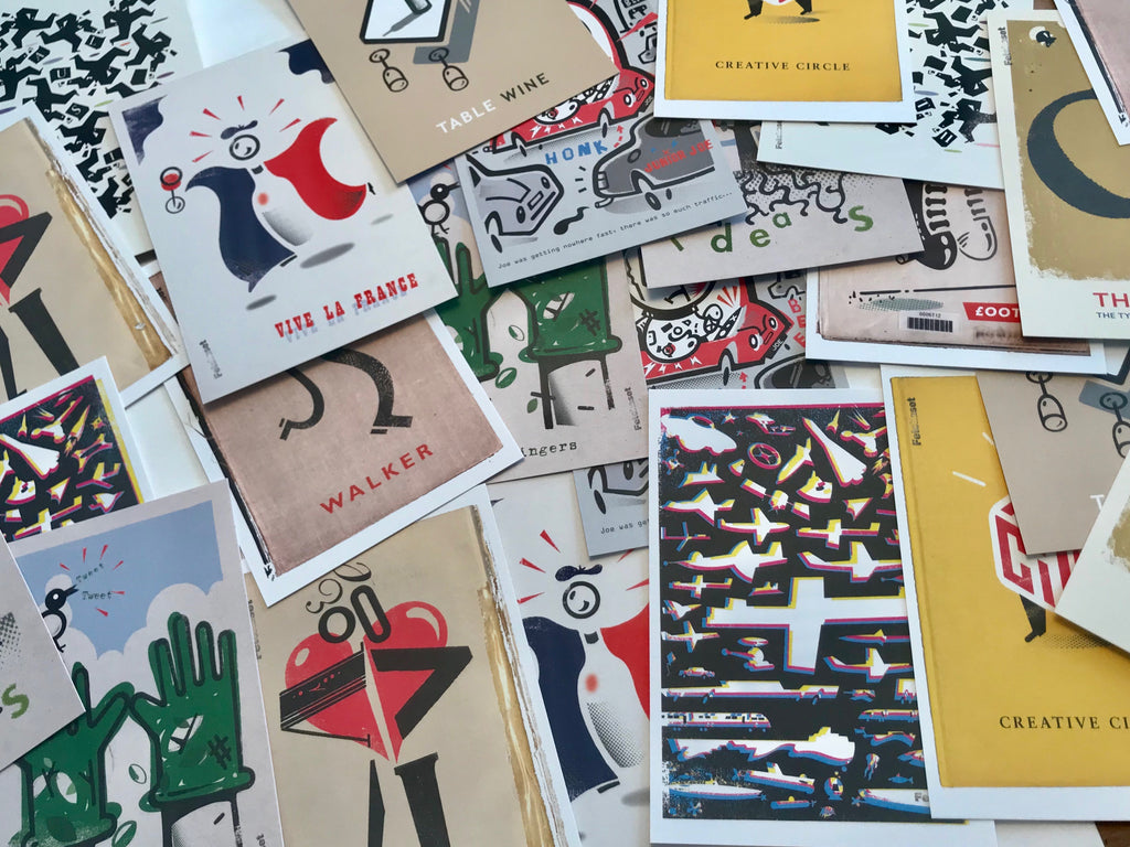 10 Art Postcards - Ltd Edition Russell Walker Collection