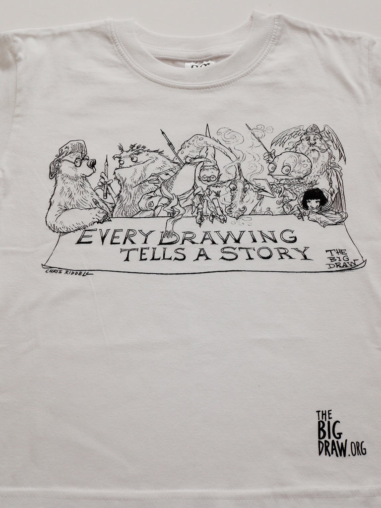 Short Sleeve Chris Riddell 'Every Drawing tells a Story' T-shirt