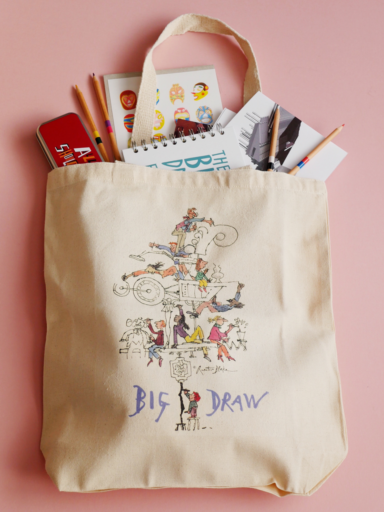 'Big Draw Big Make' Cotton Tote Bag designed by Sir Quentin Blake *MARKING*
