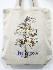 'Big Draw Big Make' organic cotton tote bag designed by Sir Quentin Blake