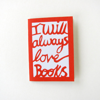 'I will Always Love Books' Notebook