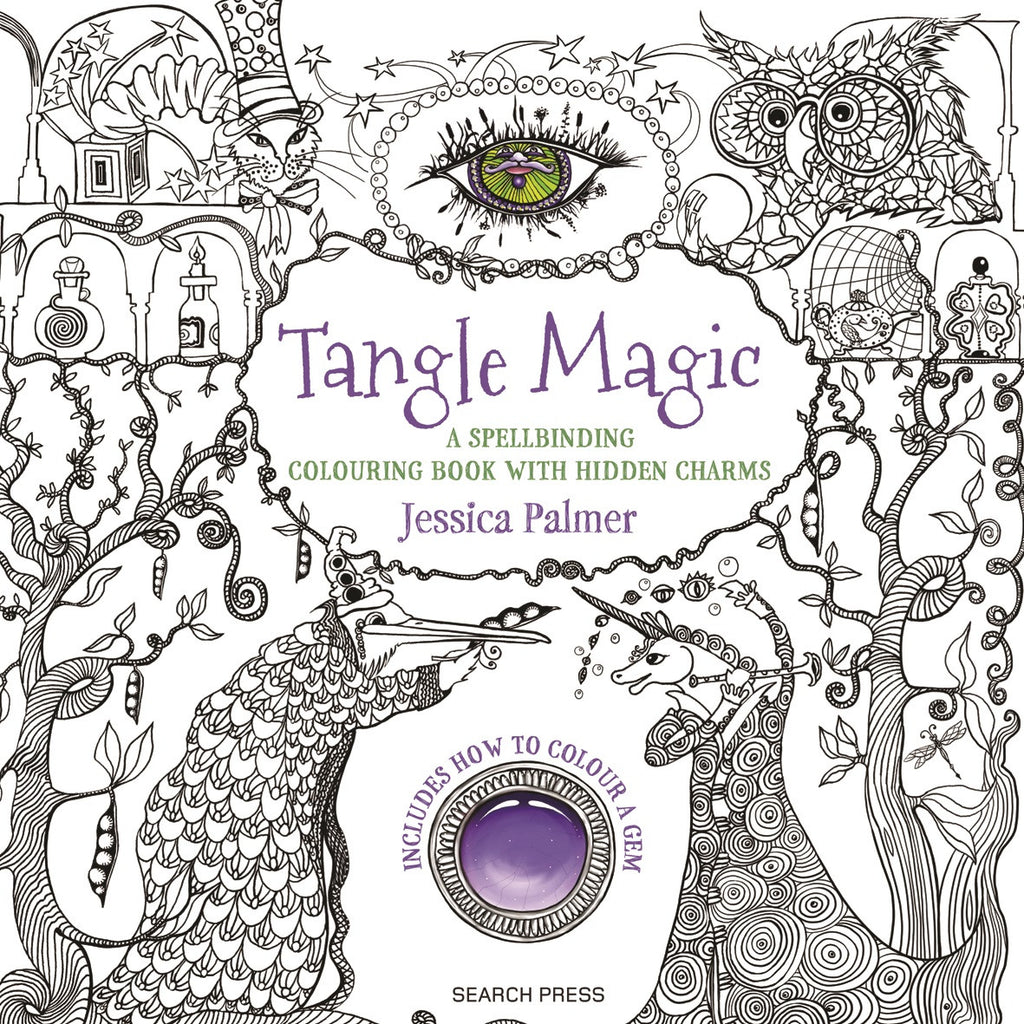 Tangle Magic: A spellbinding colouring + activity book with hidden charms by Jessica Palmer