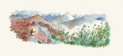 Big Draw Exclusive Limited Edition Signed Print: 'Gluck Walking in a Green Valley' by Sir Quentin Blake (from 'The King of The Golden River' by John Ruskin)