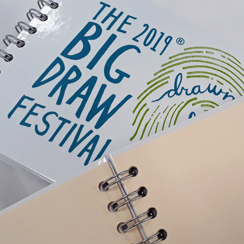Official Big Draw 2019 'Drawn To Life' Sketchbook (A5 spiralbound, hardback)