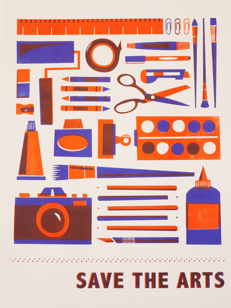 Hannah Webb 'Save the Arts' Two Colour Risograph