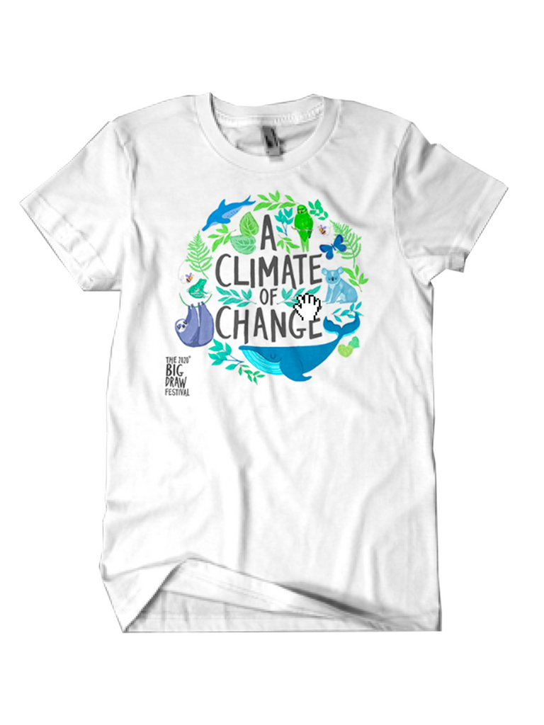 Official Big Draw Festival 2020 'Climate of Change' t-shirt!