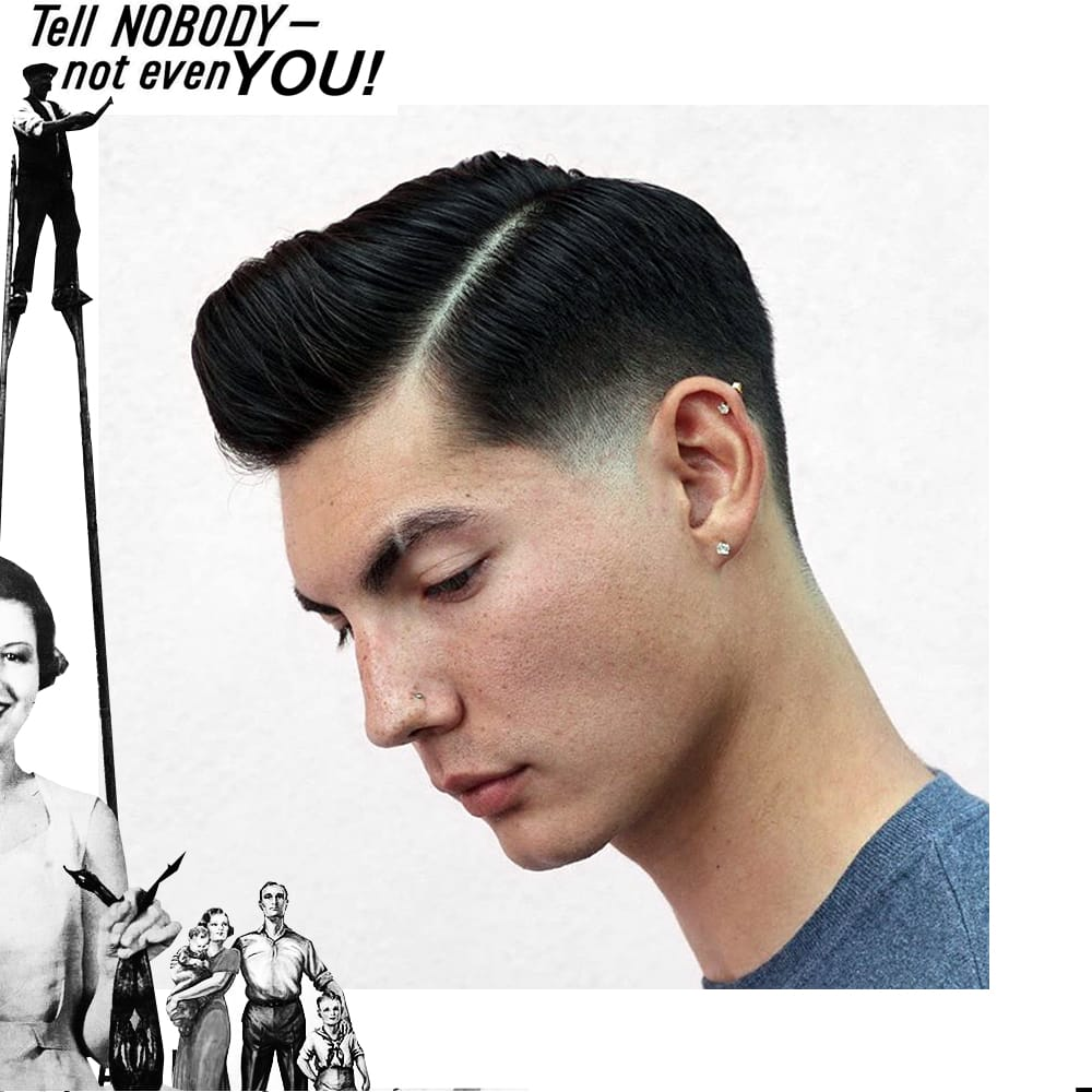 Side Part Pomp