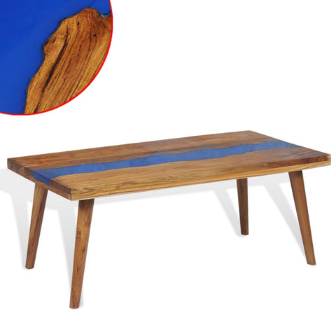 Blue Resin Coffee Table