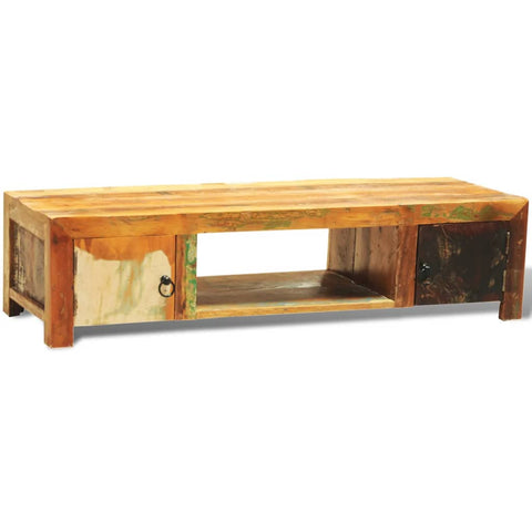 Reclaimed Wood TV Stand Handmade Antique-Style