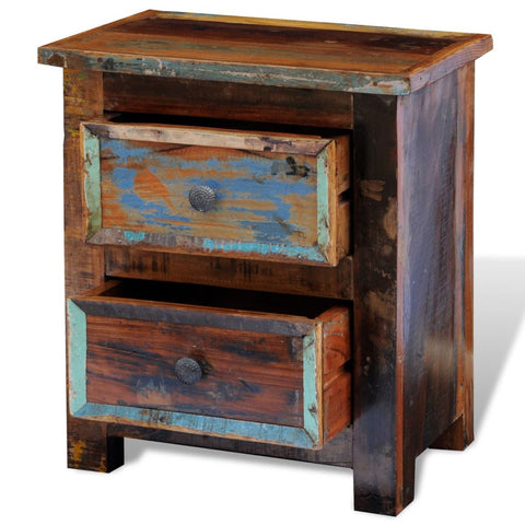 Handmade Nightstand Solid Reclaimed Wood
