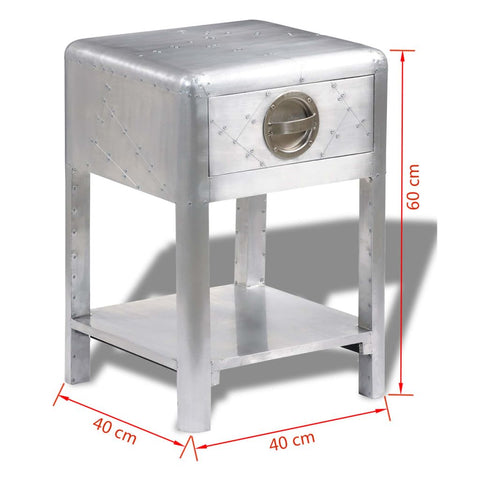 Aviator End Table Vintage Aircraft Airman Style