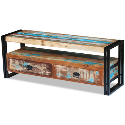 Handmade TV Stand Solid Reclaimed Wood