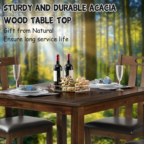 Wooden Dining Table Set 5 Piece
