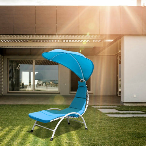 Chaise Lounge Chair With Canopy Blue