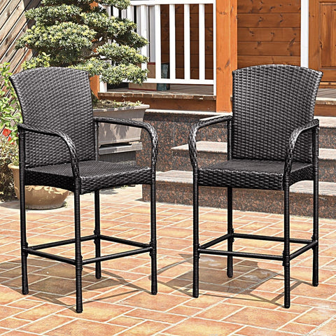 Stackable Outdoor Rattan Set High Chairs