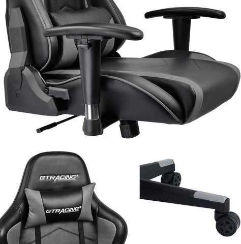 GTRACING Gaming Chair with Bluetooth Speakers Music Video Game Chair Audio【Patented Design】 Heavy Duty Ergonomic Office Computer Desk Chair