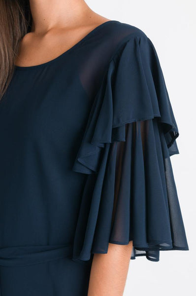 Stitch Ministry Navy Double Layered Sleeve Top - NEW - Size 10 - 12