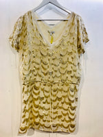 Glam Gold Cream Art Deco Size 12