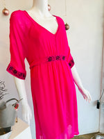 Loobies Story Pink Beaded Dress Size 10
