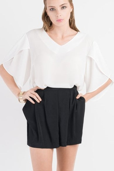 Stitch Ministry White Puff Sleeve Top - NEW- Size 10