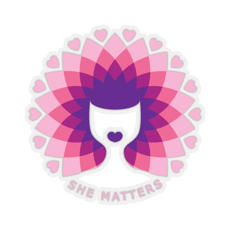 SHEMATTERS LOGO Kiss-Cut Stickers