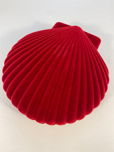 Doiy- Shell velvet red jewellery box