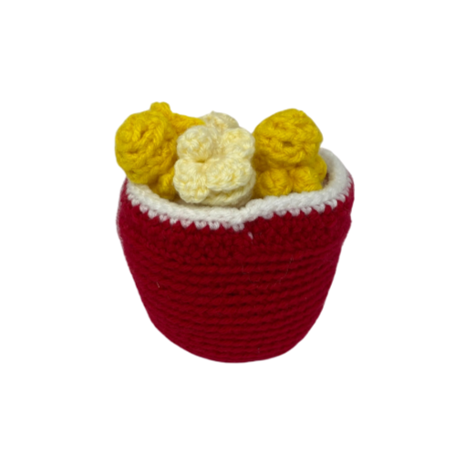 Bucket of Popcorn - Crochet City