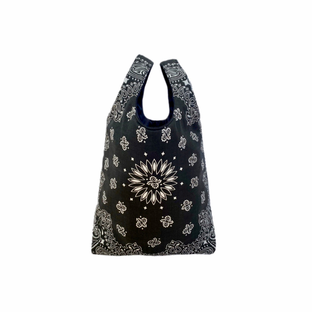 Black Paisley Shopping Bag